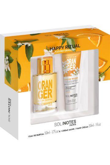 Coffret eau de parfum et crème mains à la fleur d'oranger