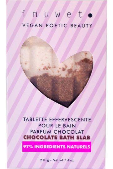 Tablette de bain effervescente au chocolat