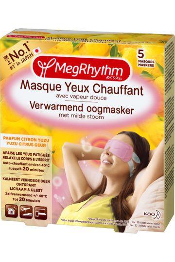 Masque yeux chauffant parfum citron yuzu