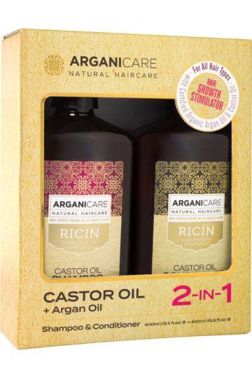 Duo shampoing + après-shampoing accélérateur de croissance à l'huile de ricin