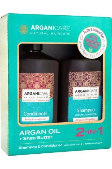 Duo shampoing + après-shampoing nourrrissant à l'huile d'Argan & beurre de karité