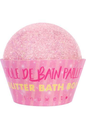 Bombe de bain à paillettes Lilas