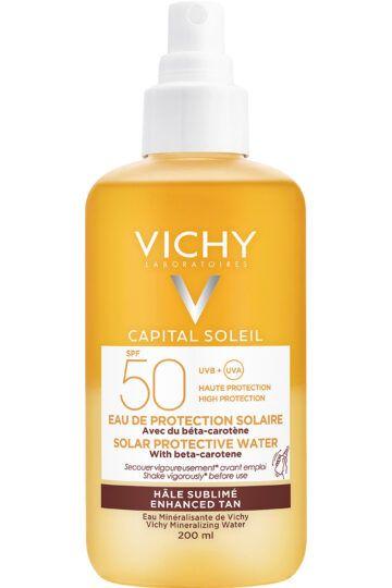 Eau de protection solaire hâle sublimé SPF50 Capital Soleil